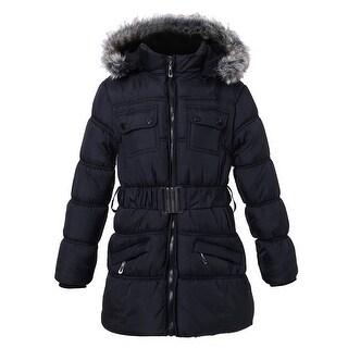 Richie House Girls' Padding Jacket with Detachable Hood