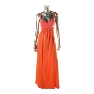 Jay Godfrey Womens Contrast Trim Cut-Out Evening Dress - 2
