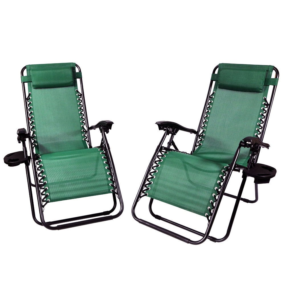 Sunnydaze Zero Gravity Lounge Chair with Pillow and Cup Holder, Multiple Colors Available - Thumbnail 13