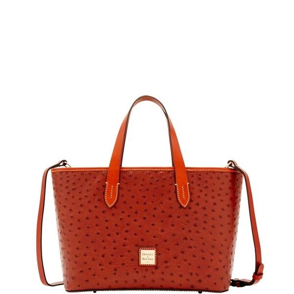 Dooney  amp  Bourke Ostrich Embossed Leather Brandy Bag (Introduced by  Dooney  amp  Bourke e569dda9c6