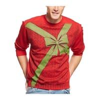 American Rag Christmas Present Fleece Crewneck Sweatshirt Red X-Large
