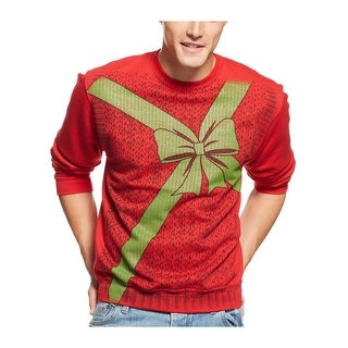 American Rag Christmas Present Fleece Crewneck Sweatshirt Red X-Large