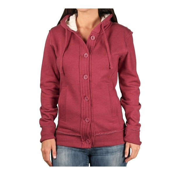 Shop Ouray Ladies Chunky Hooded Fleece Cardigan On Sale