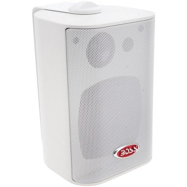 """Boss Audio Mr4.3W 4"""" Indoor/Outdoor 3-Way Speakers (White)"""