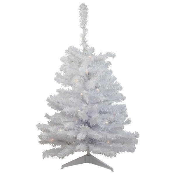 Lead Free Christmas Trees: Shop 3' Pre-Lit Snow White Medium Artificial Christmas