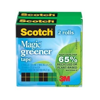 Scotch 812 Magic Greener Tape, 0.75 x 900 Inches, Matte, Pack of 2