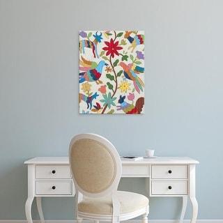 Easy Art Prints Chariklia Zarris's 'Otomi Embroidery I' Premium Canvas Art