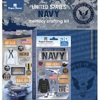 "U.S. Military Page Kit 12""X12""-Navy"
