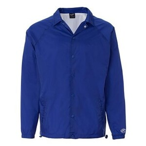 Rawlings Nylon Coach's Jacket - Royal - S