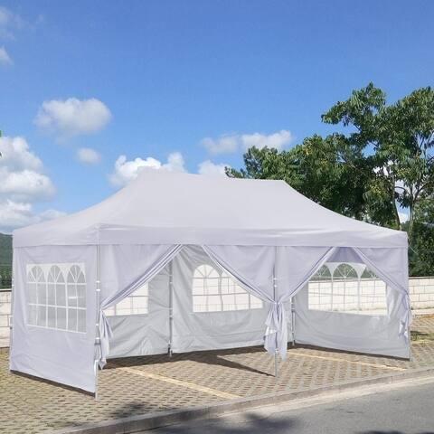 10x20 Ft Pop up Canopy Tent, Party Heavy Duty Instant Gazebo