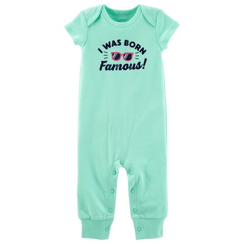Carter's Baby Girls' I Was Born Famous Jumpsuit