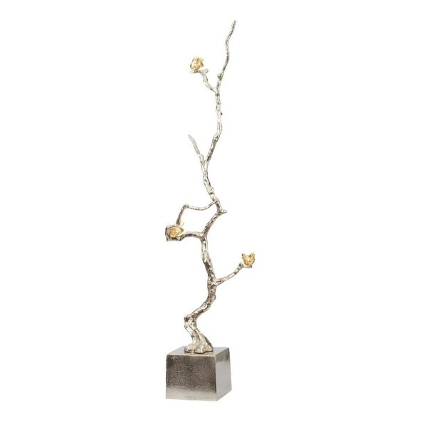 """37"""" Silver and Gold Branch Accent Decor - N/A"""