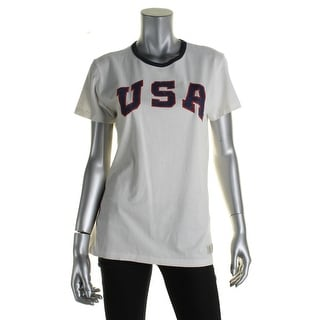 Polo Ralph Lauren Womens Slogan T-Shirt Cotton Slogan
