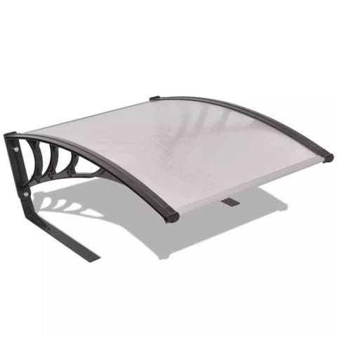"vidaXL 30""x41""x18"" Garage Roof for Robot Lawn Mower Twinwall Metal Black Silver"