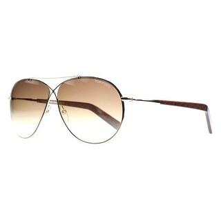 Tom Ford Eva TF 374 28F Gold Brown Gradient Women's Aviator Sunglasses - gold/brown horn - 61mm-10mm-140mm