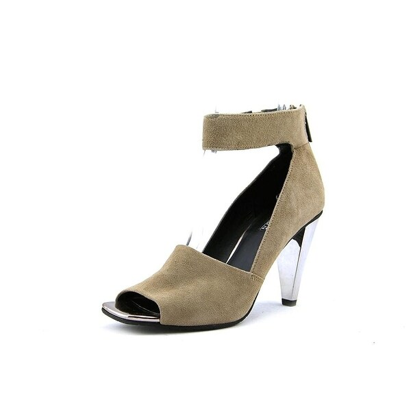 Kenneth Cole Reaction Womens Peep Rise Suede Open Toe Ankle Strap Classic Pumps