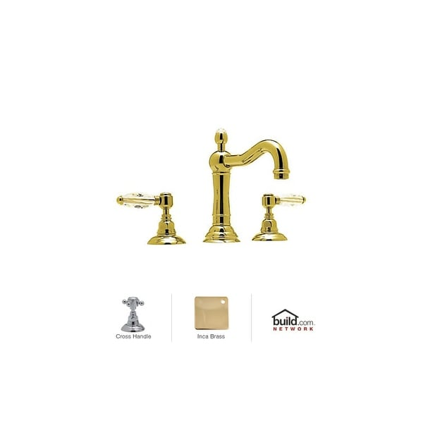 Rohl A1409XM-2 Country Bath Widespread Bathroom Faucet with Metal Cross Handles and Pop-Up Drain