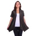 Simply Ravishing Women's Basic Short Sleeve Open Cardigan (Size: Small-5X) - Thumbnail 1