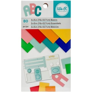 """We R Memory Keepers Paper Pad 3""""X5""""-Multi-Color, 80/Pkg"""