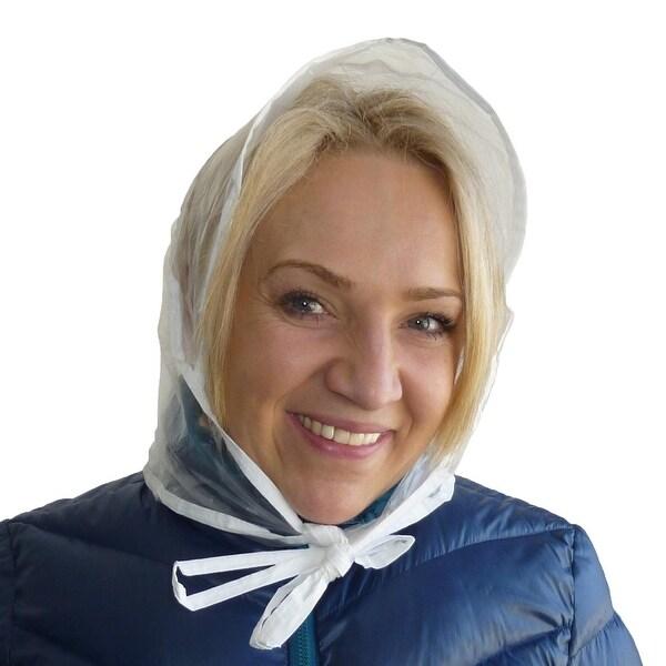 RainStopper Women's Clear Waterproof Rain Bonnet Hat (Pack of 3)