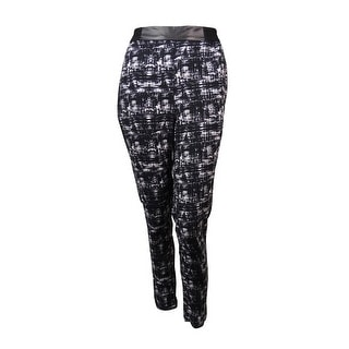 Kensie Women's Abstract Print Stretch Waistband Pants - XS