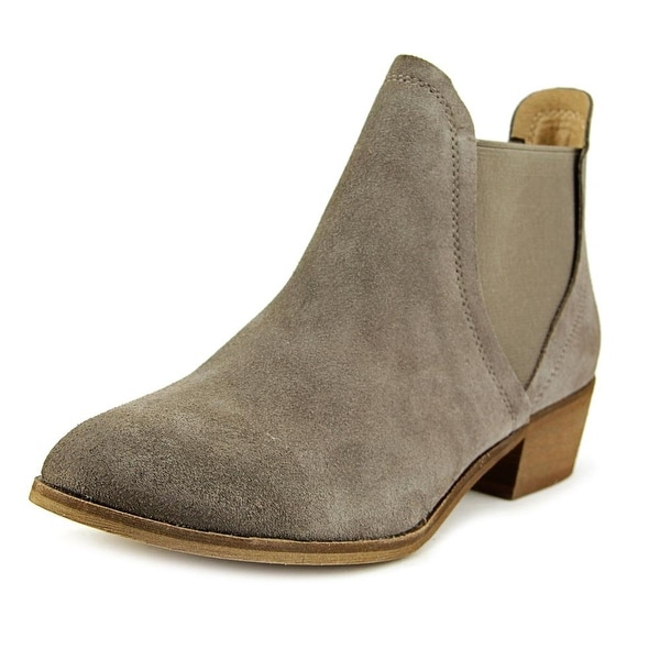Splendid Henri Women Round Toe Suede Gray Ankle Boot