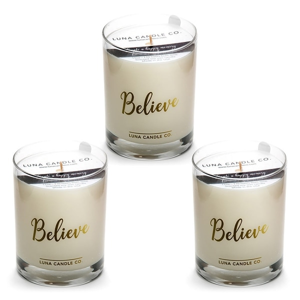 Pine Balsam Candle, Soy Wax, Hints of Evergreen & Fir Needle (3 Pack)