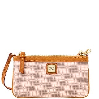 Dooney & Bourke Linen Large Slim Wristlet (Introduced by Dooney & Bourke at $78 in Oct 2014) - Pink