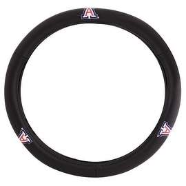 Pilot Automotive Black Leather University of Arizona Wildcats Car Auto Steering Wheel Cover