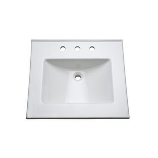 """Mirabelle MIRT25228 25"""" Vitreous China Vanity Top with Three Faucet Holes"""