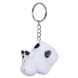 Tough-1 Western Novelty Key Chain Fake Pooping Cow White 27-4025