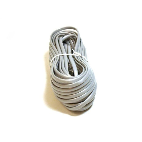 Monoprice Phone Cable, RJ11 (6P4C), Straight - 50ft for data