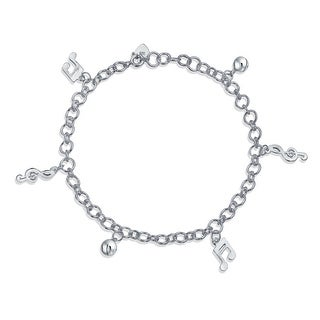 Link to Music Notes Music Lover Anklet Dangle Charm Ankle Bracelet 925 Silver Similar Items in Bracelets