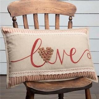 VHC Brands 34436 Ozark Love Pillow, 14 x 22 in.