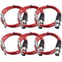 "SEISMIC AUDIO Red 1/4"" TRS to XLR Female 2' Patch Cable"
