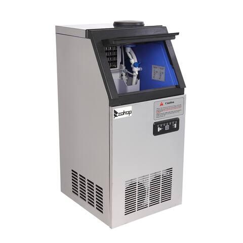 ZOKOP 50KG/68KG 120V / 60HZ Stainless Steel Freestanding Ice Maker Ice Machine(495W)