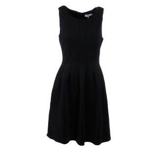 Calvin Klein Womens Ponte Pleated Wear to Work Dress - 8