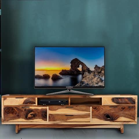 Cordoba Live Edge Suar Wood Media Center/Buffet with 6 drawers