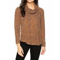 Ruby Rd. Brown Womens Size Medium M Knitted Cowl Neck Sweater