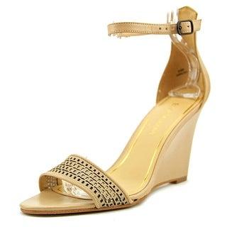 Enzo Angiolini Raledy Open Toe Leather Wedge Sandal