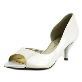 Jessica Simpson Malina Pump   Open-Toe Patent Leather  Heels