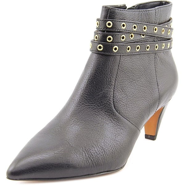 G.I.L.I. Kodelle Women Pointed Toe Leather Black Bootie
