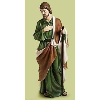 "61.5"" Brown and Green Religious Themed Holy Joseph Figurine Home Decor"