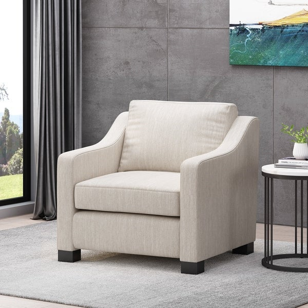 Halevy Contemporary Fabric Club Chair by Christopher Knight Home. Opens flyout.