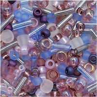 Toho Multi-Shape Glass Beads 'Kimono' Lilac Color Mix 8 Gram Tube