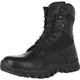 """Timberland Mens McClellan 8"""" Leather Round Toe Combat Boots"""