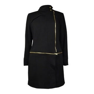 INC International Concepts Women's Convertible Knit Coat (M, Deep Black) - M