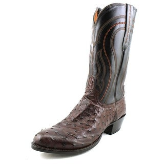 Lucchese Montana Men Round Toe Leather Brown Western Boot