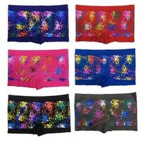 Junior Teenage Girls 6 Pack Seamless illusion Golden Print Boyshorts Panties