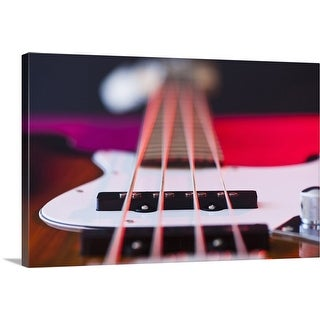 """Close up of bass guitar"" Canvas Wall Art"